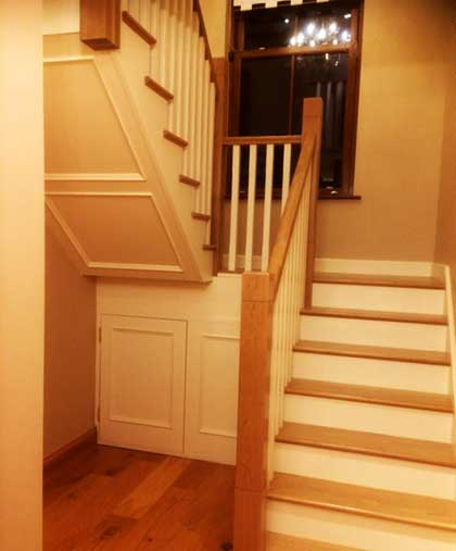 Warm Stairs and Hall Michalel Blacks Joinery